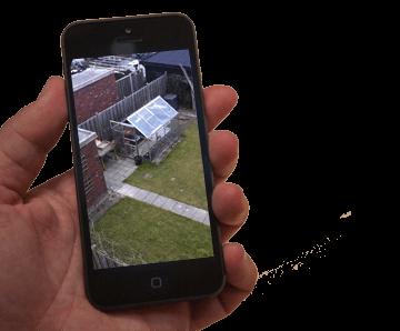 bewakingscamera op de Iphone