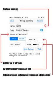 App ip camera instellen