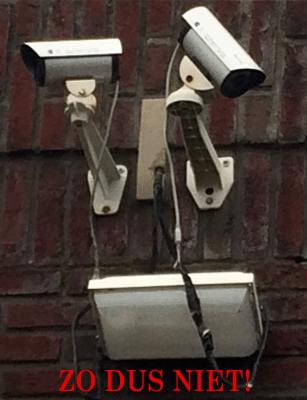 Goedkope camera installatie
