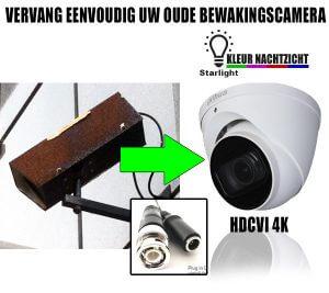 Oude bewakingscamera vervangen