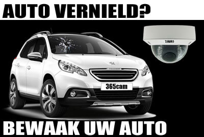 bewaak auto met bewakingscamera