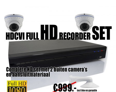 HDCVI set met 2 binnen/buiten camera