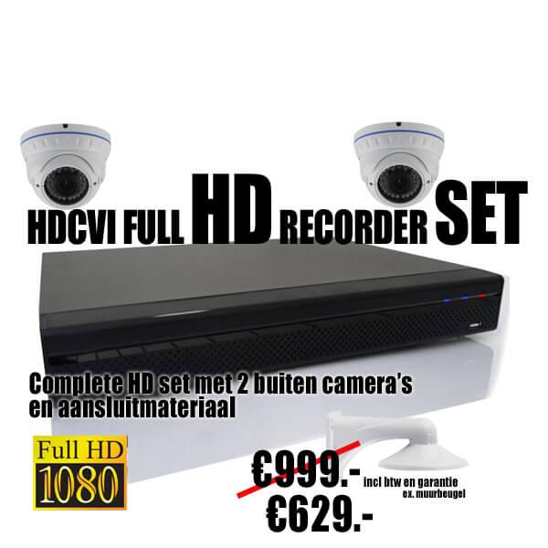 HDCVI 2x bewakingscamera set