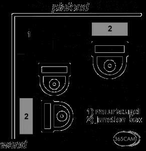 Beveiligingscamera buiten met licht en audio alarmering