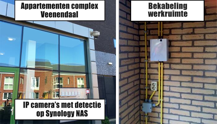 Appartementen-bewakingscamera-installatie