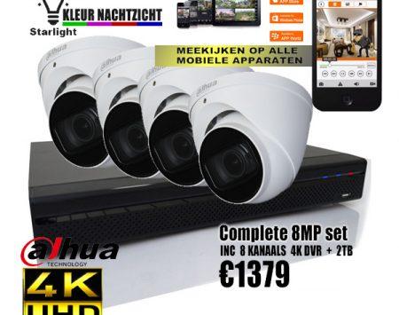 4K bewakingscamera set