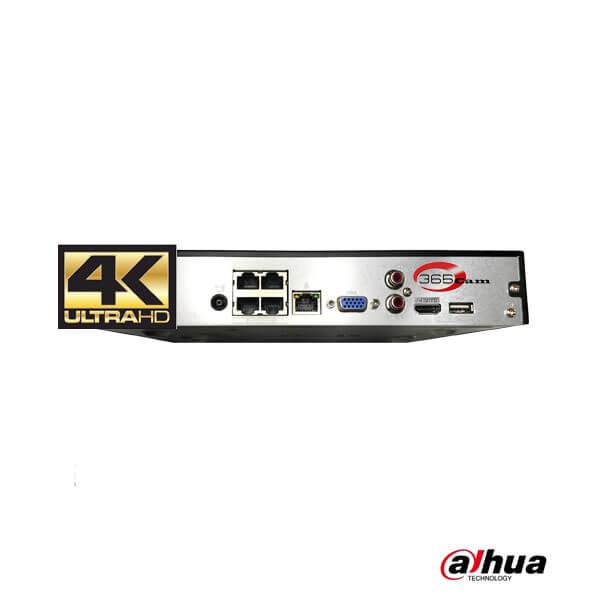Dahua IP camera recorder aansluitingen