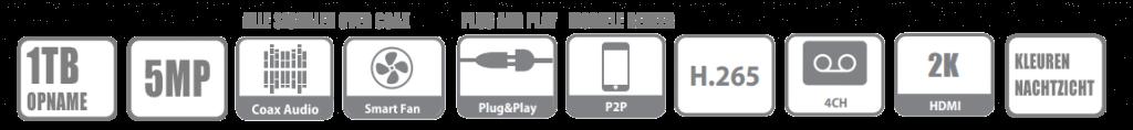 sony beveiligingscamera set specificaties